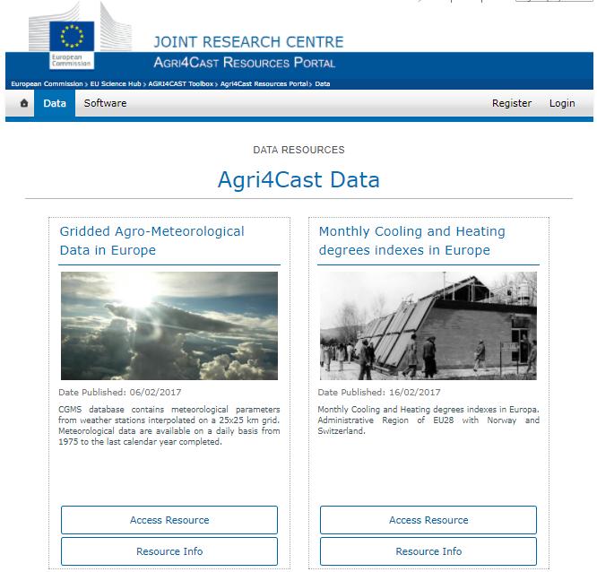 AGRI4CAST Resources Portal